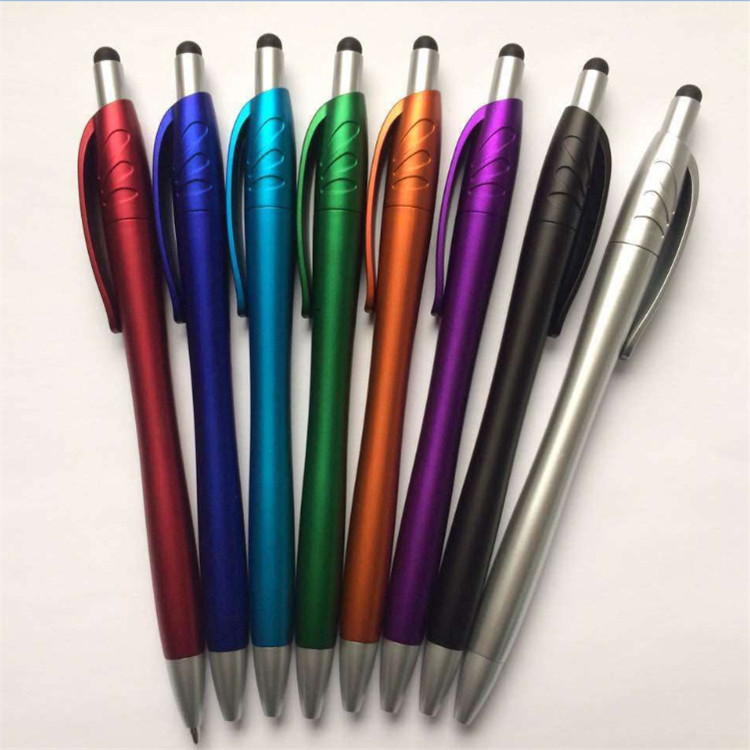 New Arrival Multi functional ball pens, twist ballpoint pen with touch screen