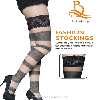 db87cfbe0 BEILEISI Sexy Sheer Lace Top Thigh High Stockings Thigh Highs black  stockings