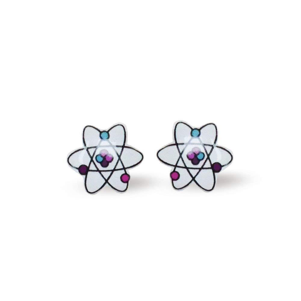 Get Quotations  C2 B7 Atoms Stud Earrings Chemistry Earrings Chemistry Lover Earrings Atoms Icon Medical Earrings