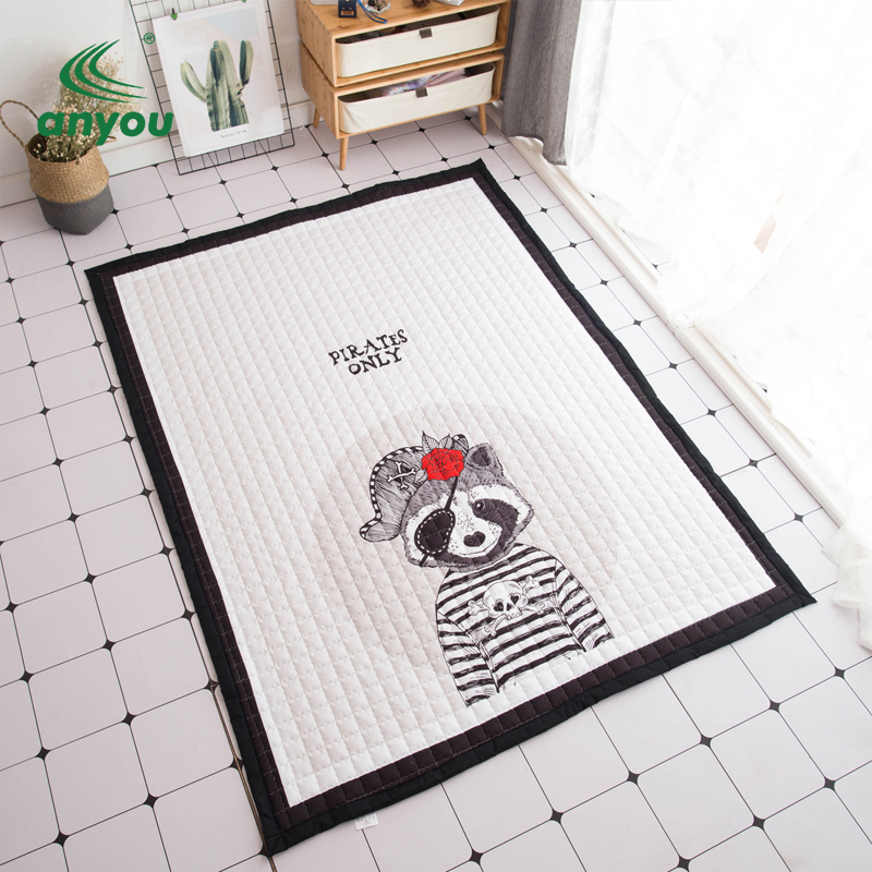 2018 newest multi activity soft custom printed kids mat baby play mat