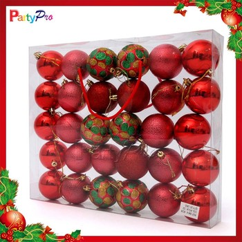 wholesale hot sale clear plastic christmas ball ornaments christmas decorations made in china - Wholesale Christmas Decorations