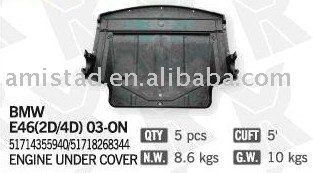 OE 51714355940 51718268344 Engine UNDER COVER for BMW E46 2D 4D 03-ON AUTO ACCESSORY CAR REPLACEMENT DUST ENGINE COVER