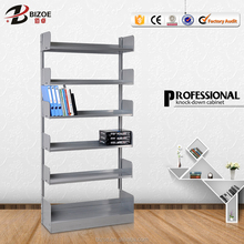 Italy Steel storage shelf iron heavy duty shelf metal library bookshelf