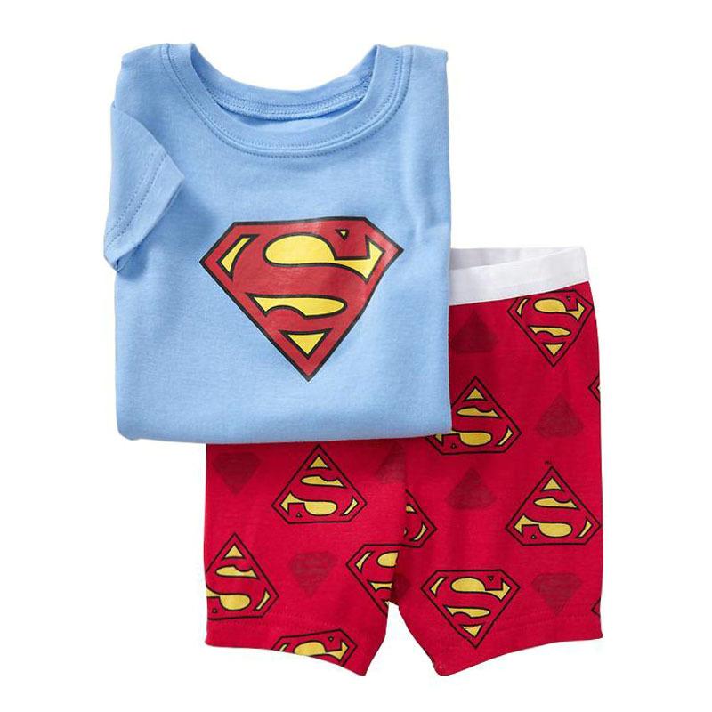 Get Quotations · Brand New Superman Pajamas for Boys Super Man Pijamas Sets  Baby Boy Summer Short Sleeve Cotton 8fee9935f