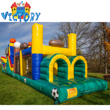 Outdoor 50ft kids Sport inflatable 5k obstacle course for sales