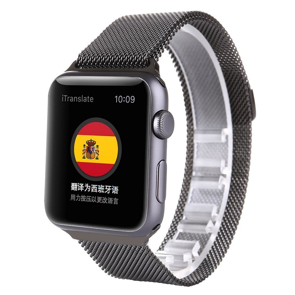 Apple Watch Band Milanese Loop, SONICE Stainless Steel with Adjustble Magnetic Closure Bracelet Strap for Apple Watch (42MM Space Gray)
