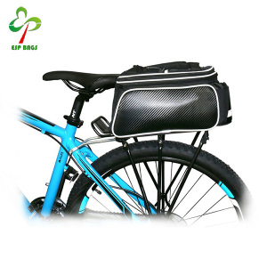 Wholesale 2 way carrying premium quality bike saddle bag, multipurpose 600D polyester safe rear bag bicycle