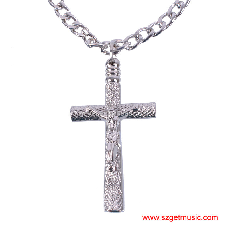 Pearl Drum Key Set Tool Jazz Wrench Jesus cross art style pendant with New Chain