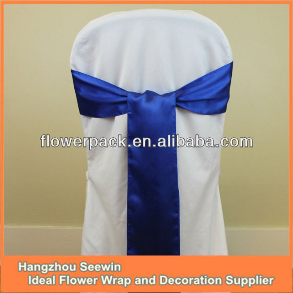 Satin Chair Sash/wedding Satin Chair Bow/satin Chair Cover Sash