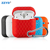 ZZYD For Air pods Cases Silicone Protective Cover Hook Clasp Keychain Anti Lost For Earphone I10 I12 I9s i30 i60 i80
