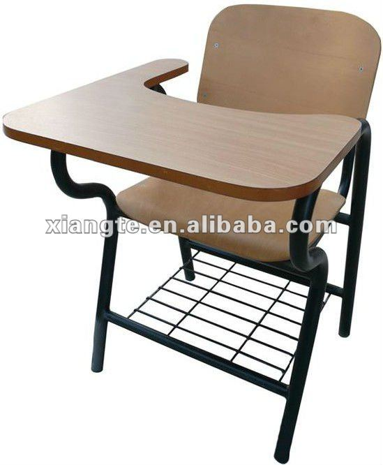 Durable School Chairs With Tablet Arm Metal Frame And