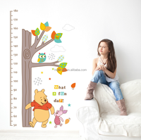 Bear and its friends For height measurement Cartoon home decor PVC wall sticker 2017