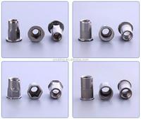 Stainless steel/Aluminum m8 hex rivet nut