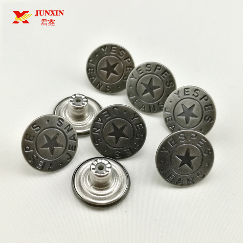 Metal Jeans Button Custom Logo Personalized Jeans Rivets Button