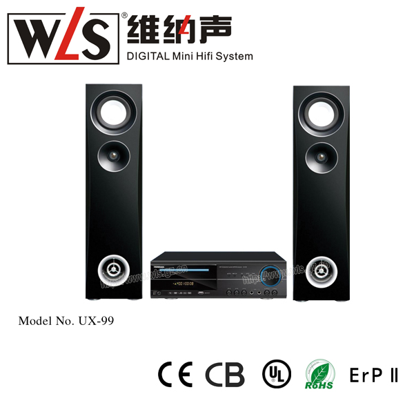 DVD Home Theatre Loundspeaker box UX-99 with DVD/WMA/MPEG4/CD/VCD/JPEG/MP3/FM/USB