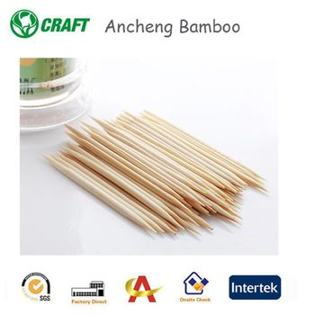 2.0*65mm disposable decorative flat wooden toothpicks