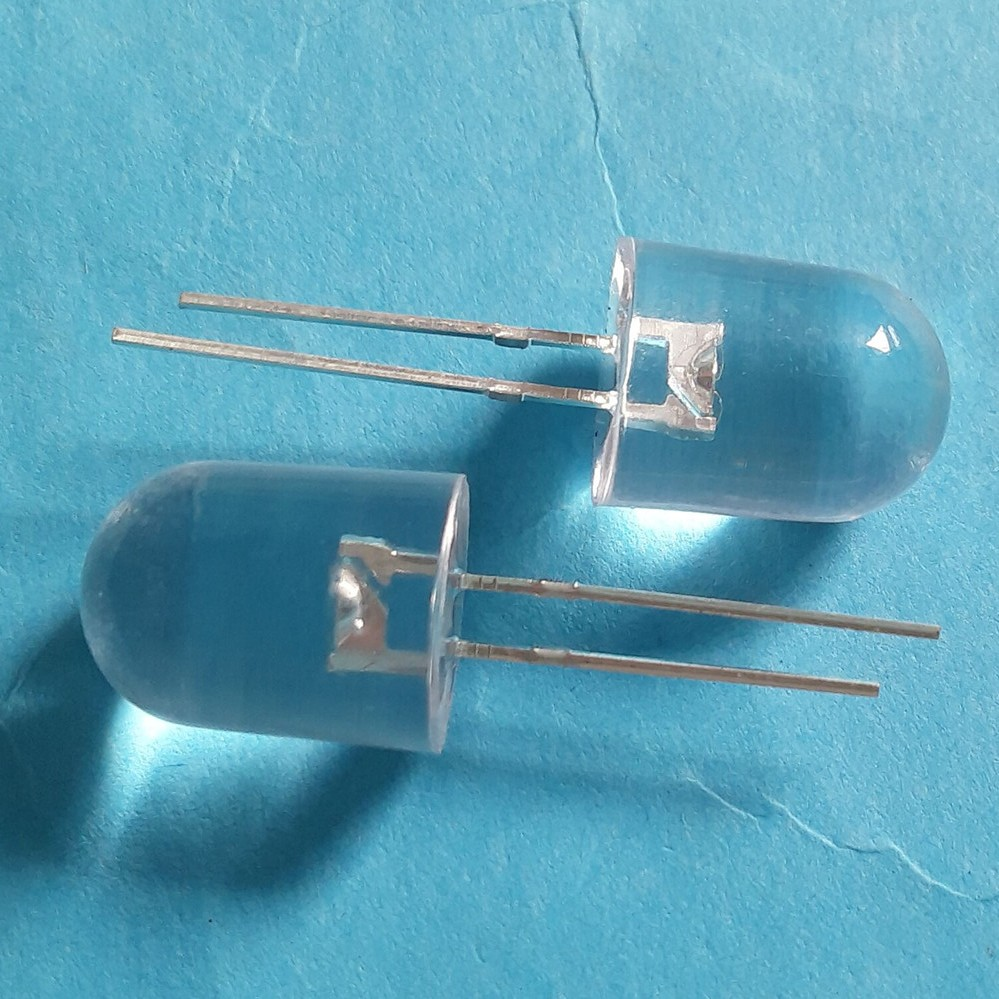 through hole led 10mm diodes white red yellow green blue