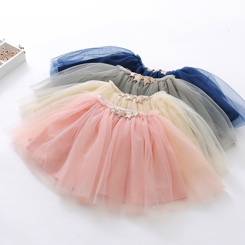 L1725S Fluffy Chiffon Pettiskirts Tutu Skirt For Girls 2017 Princess Dance Party Baby Tulle Skirt