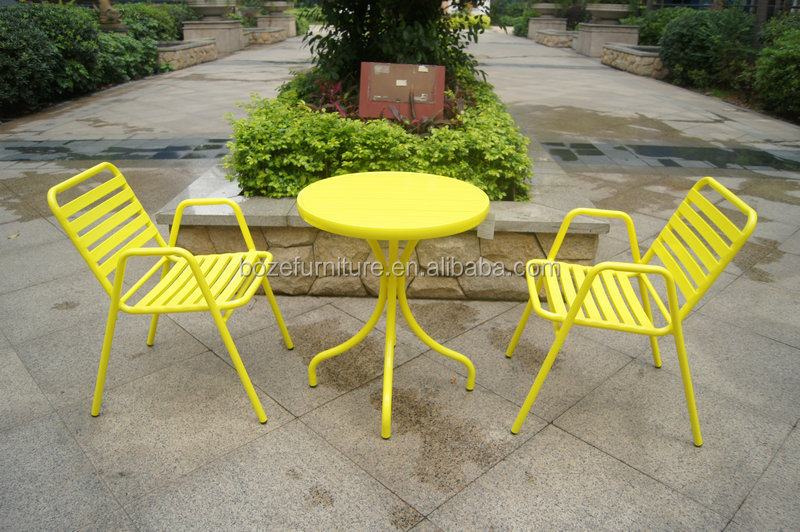Full Aluminum Chairs And Table Heavy Duty Outdoor Dining