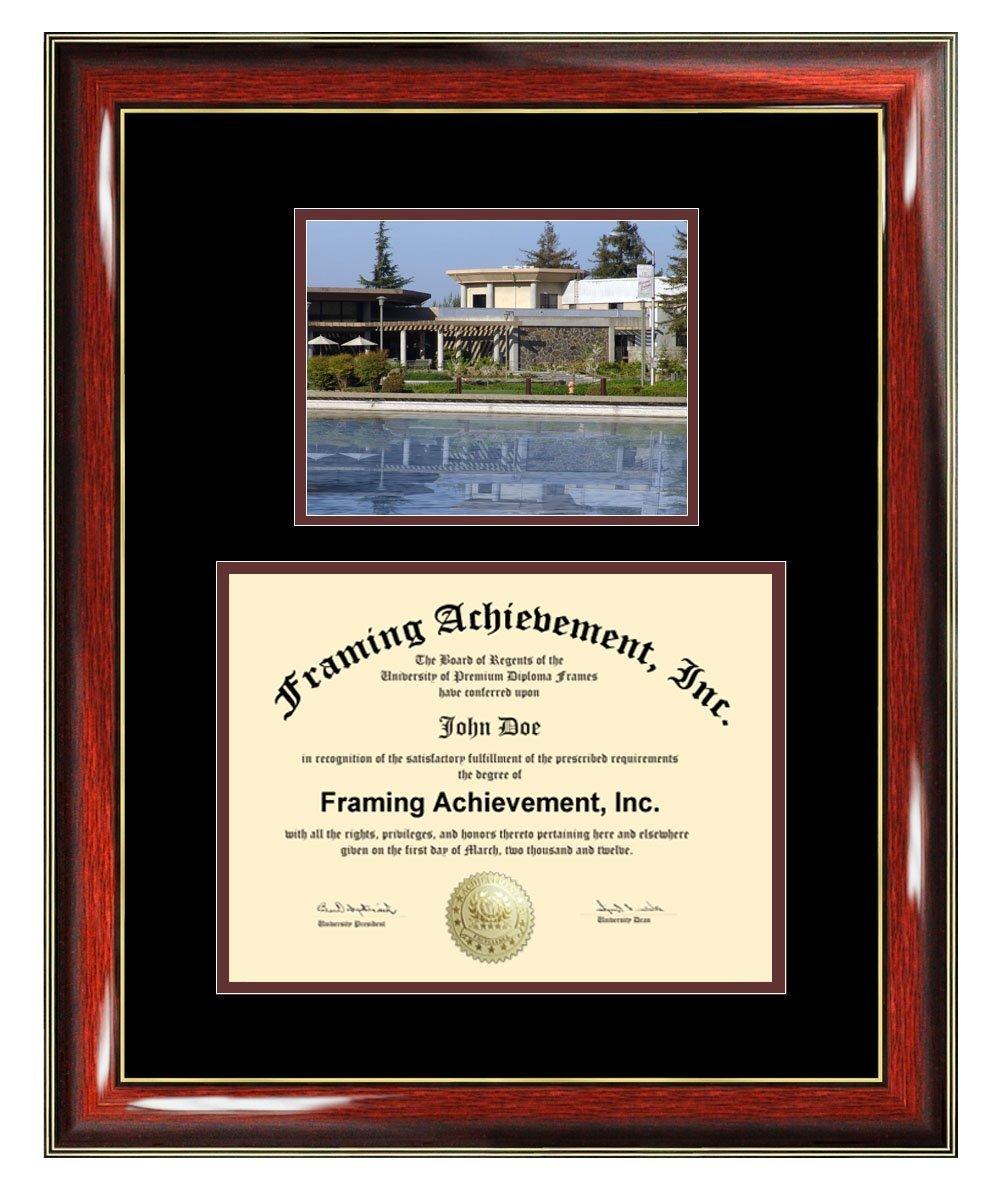 California State University Stanislaus Diploma Frame - CSUS Graduation Degree Frame - Matted Campus College Photo Graduation Certificate Framing Graduate Gift