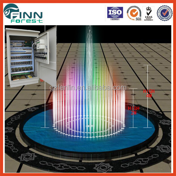 Programable water fountain music fountain control system