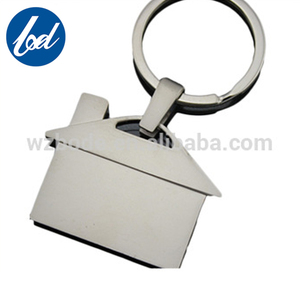 2018 New fashion alloy metal keychain house