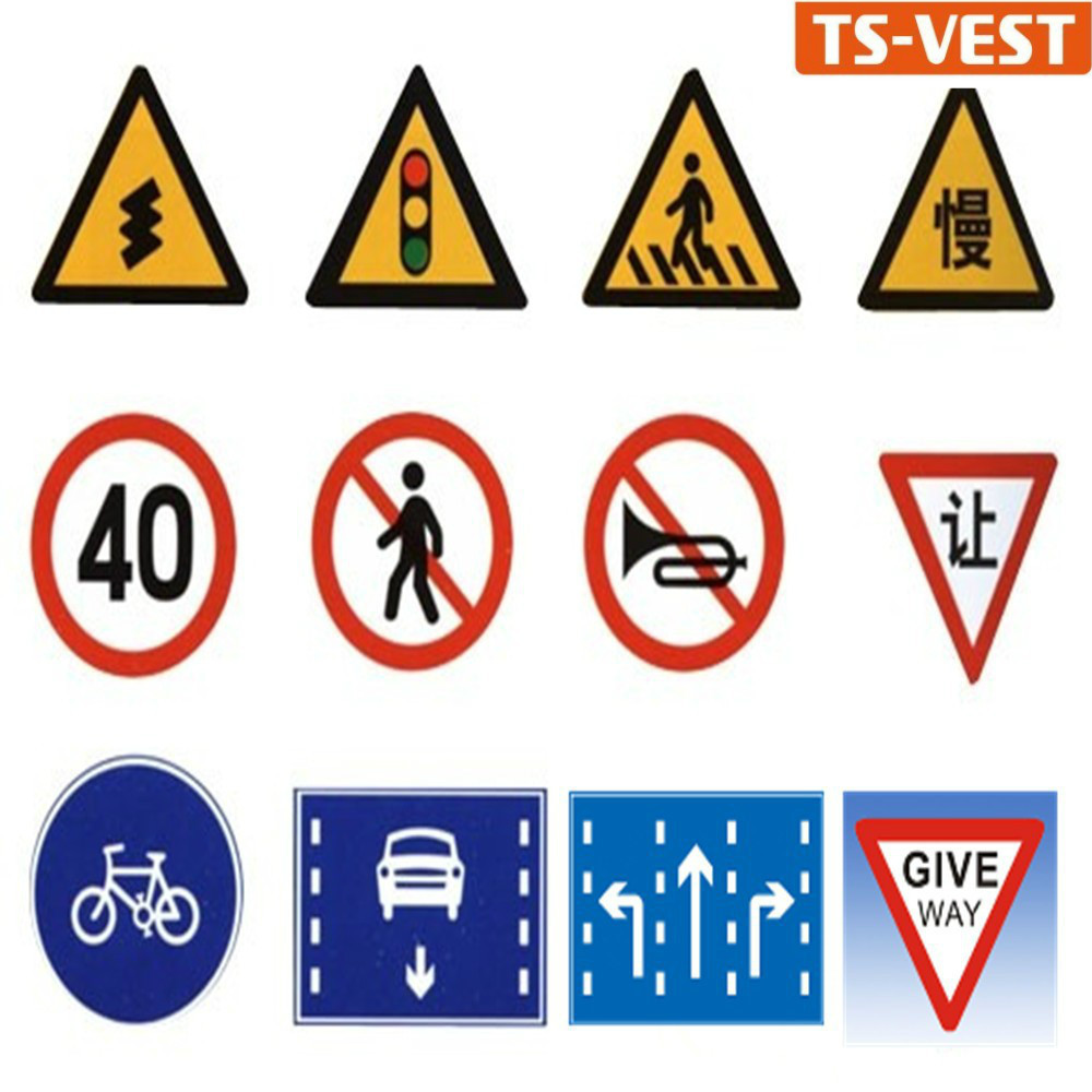 Roadway warning reflective safety traffic road signs