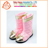 Pink Winter Safety Soft Sole leather Boots for babies