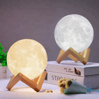 2018 new innovative novelty corporate gifts funny gadget product ideas product for home levitating moonlight lamp for kids lover