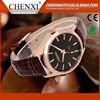 Fashion Water Resist Custom Men Leather Strap Watches