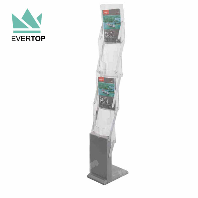 Exhibition Literature Stand : Ms 11d 8 pocket portable literature stand for a4 magazines folding