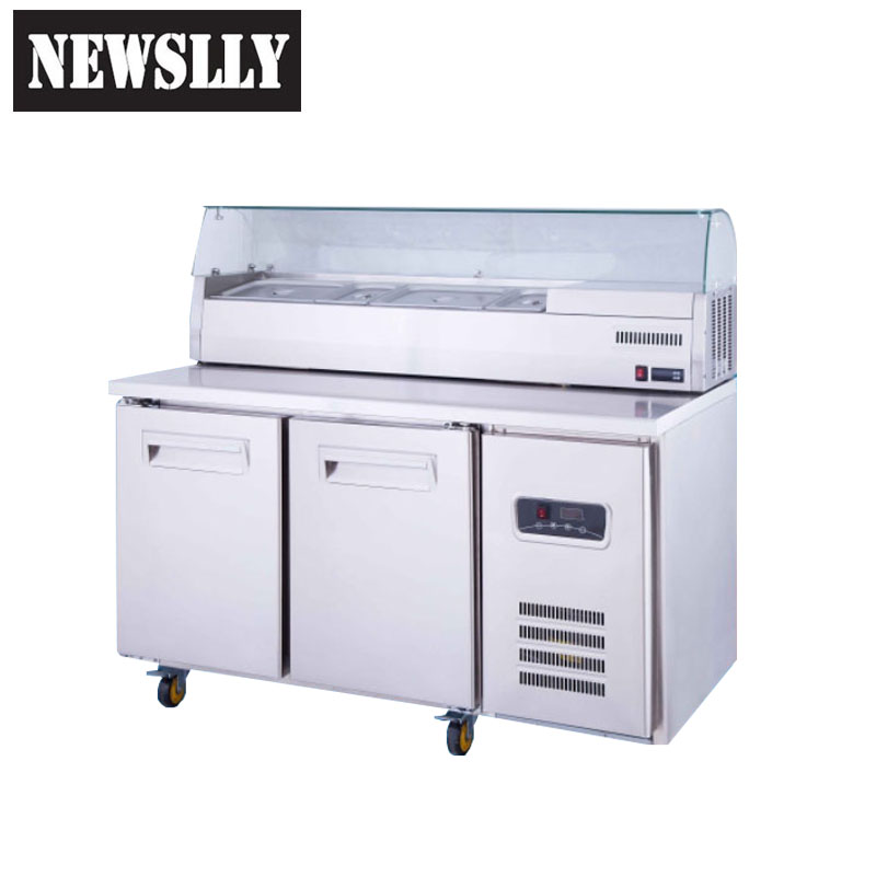 2018 countertop refrigerator new design Stainless Steel Commercial Kitchen Work table Refrigerator