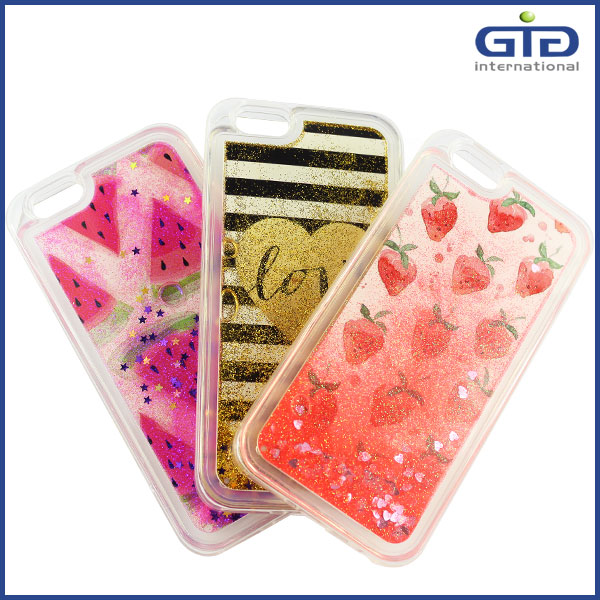 [GGIT]Customized Desgign Bling Glitter Liquid TPU Case for iPhone 6S