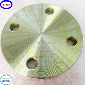 Factory Wholesale Forged Carbon Steel ST37.2 Yellow Coated DIN2566 Threaded Flanges