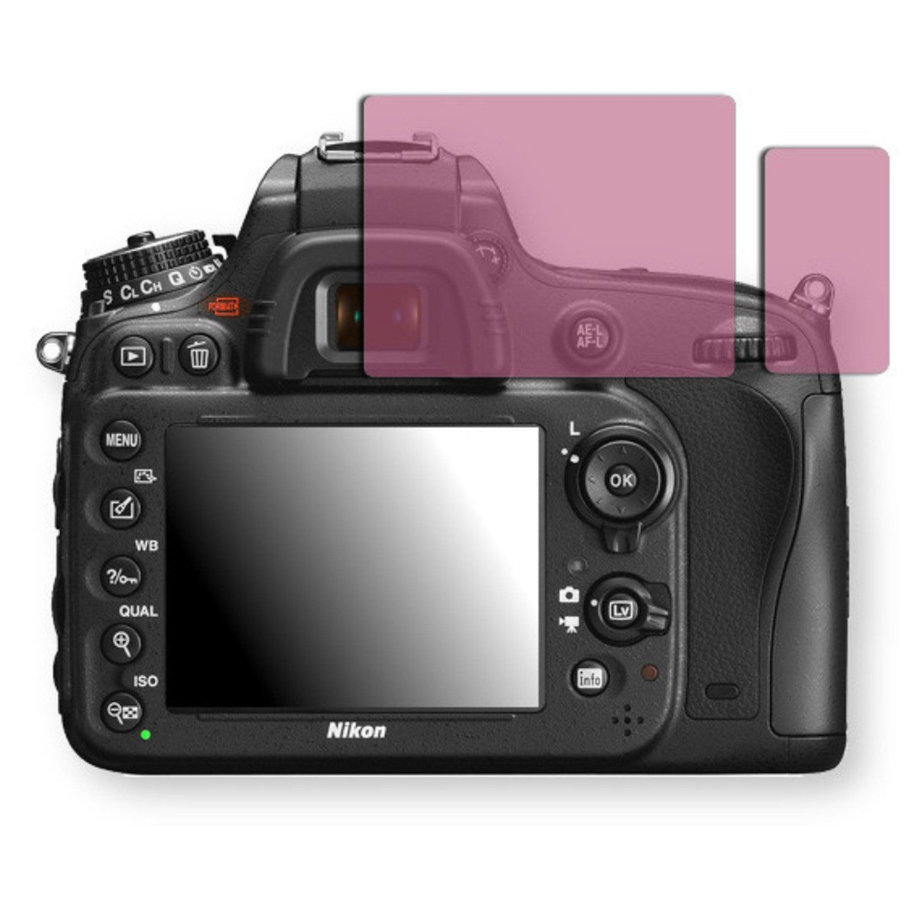 Golebo Screen Film for Privacy protection pink for Nikon D600 - PREMIUM QUALITY