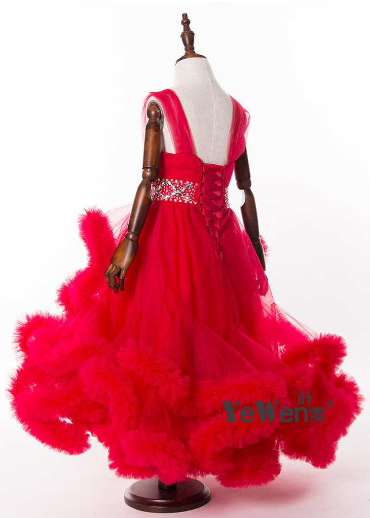 Cloud little flower girls dresses for weddings Baby Party frocks sexy children images Dress kids prom dresses evening gowns 2016 31