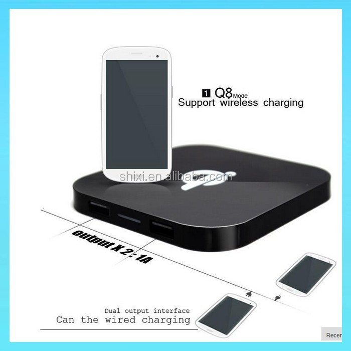 Q8A Wireless Charging Pad 2 usb ports Qi charger For iPhone 6 plus 5 5S For Google Nexus5 For Nokia Lumia 920 For Samsung