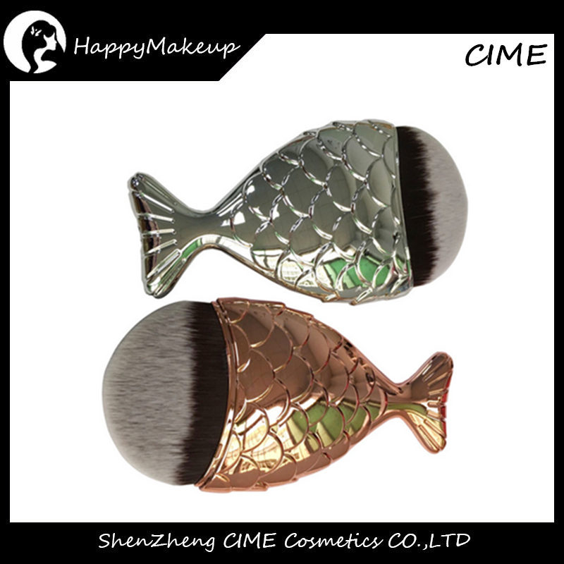 Alibaba Export 2017 World Best Selling Mermaid Fish Shape foundation Makeup Brush