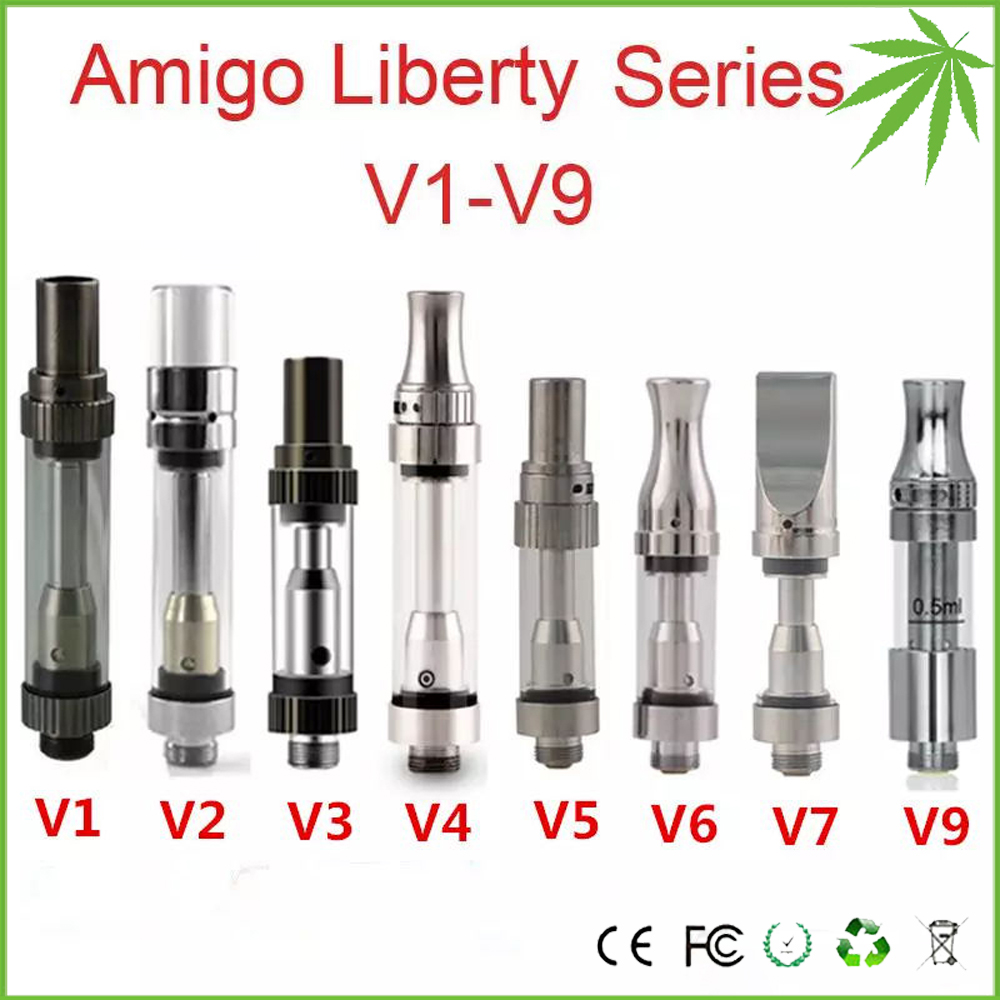 Removable Central Post Liberty V9 Adjustable Airflow CBD Oil cartridge Ceramic Coil Pyrex Tank