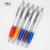 Close out low MOQ Silver barrel blue grip curve promotional branding pen