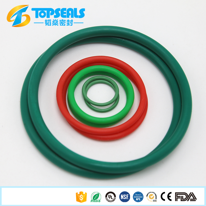 as568 fkm high temperature green color rubber o ring