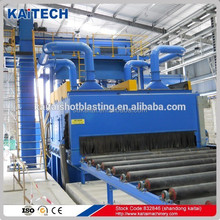 Q698 steel plate type shot blasting machines for removing rust, painting(pretreatment) of steel plate, profiled steel