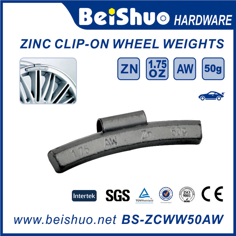 Zinc Clip-on Tire Wheel Balancing Weight for Alloy Rim