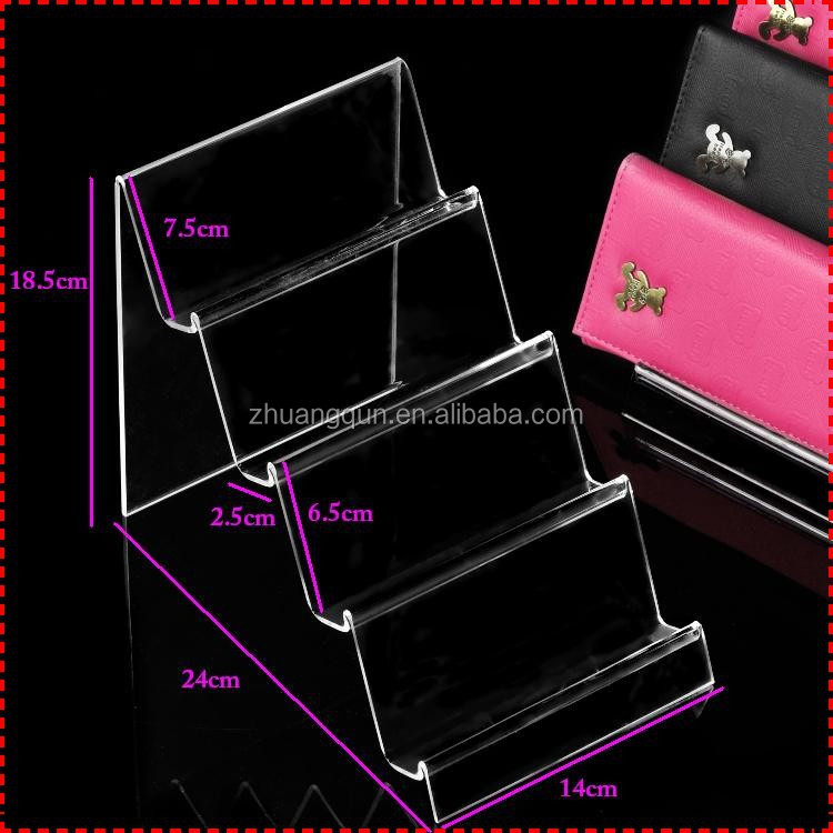 4 layer desktop acrylic wallet compass magnifier display stand