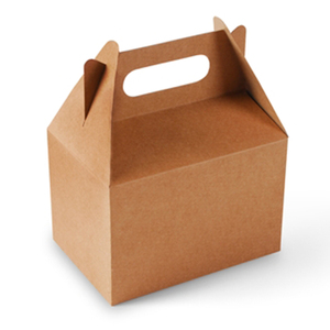Rich Experience!Take Away Paper Picnic Boxes/ Lunch Food Box To be Leak Proof/White/Brown With Logo