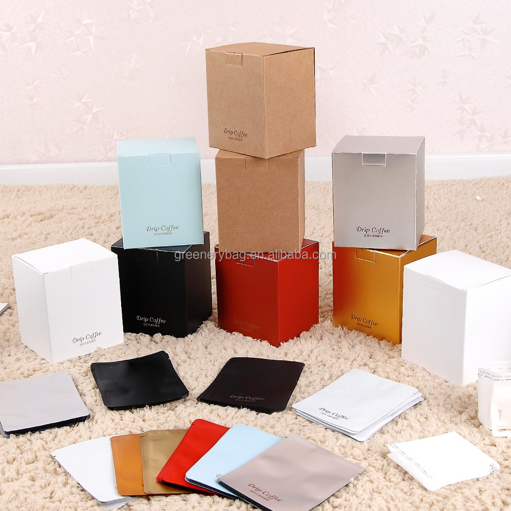 5 pcs coffee filter packaging box / factory stock box for tea and box <strong>packing</strong>