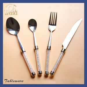 4 PCS Set Of Spoon/ Fork/ Knife Decorative Stainless Steel Table Cutlery
