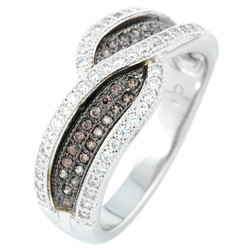 Silver Ring Designs For Couple | Fashion Couple Design 3 Grams White Gold Over 925 Silver Ring For