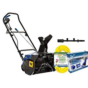 """Snow Joe 18"""" 13.5 AMP Electric Snow Blower Bundle (Includes SJ620, Cover, 50' Ft Extension Cord, & Chute Clean-out Tool)."""