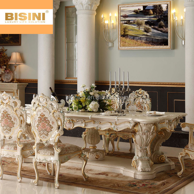 Bisini Luxury Italian Baroque Style Palace Hand Carved